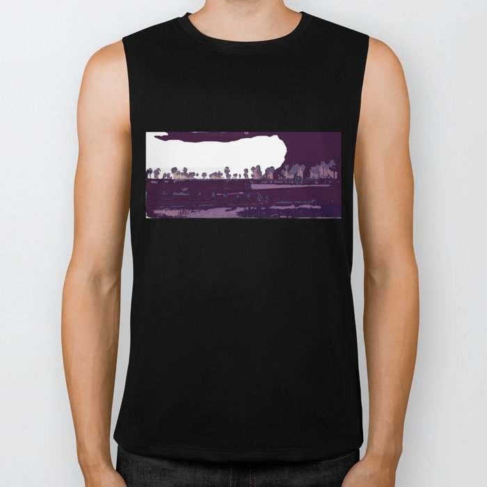 Landscape of coconuts and rice Biker Tank