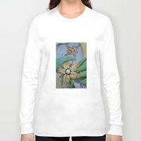 leah flores Long Sleeve T-shirts featuring FLORES by María Massó