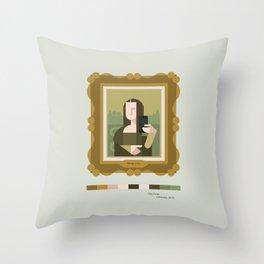 Mona Lisa Selfie Throw Pillow