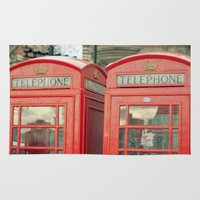 telephone Area & Throw Rugs featuring Telephone by The Last Sparrow