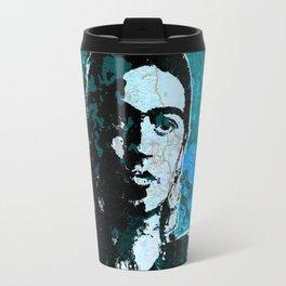 FRIDA - turquoise grunge Travel Mug