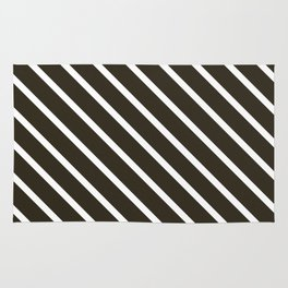 Molasses Diagonal Stripes Rug