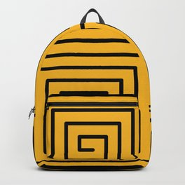 Square Spiral Pattern - Golden Yellow Backpack