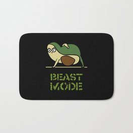 Beast Mode Avocado Bath Mat