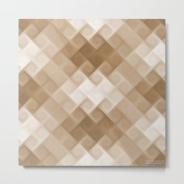 Beautiful Soft Beige Pattern B04 Metal Print