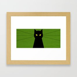 Halloween Cat Framed Art Print