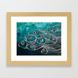 Boney fish Framed Art Print