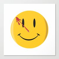 watchmen Canvas Prints featuring Who watches the watchmen?  by Vickn