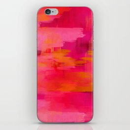 """""""Abstract brushstrokes in pastel pinks and oranges decorative pattern"""" iPhone Skin"""