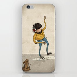 Hipster & Pet iPhone Skin