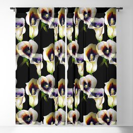Arum Calla Lilies Pattern in Watercolor Blackout Curtain