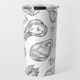 Funny Meat Food Art Travel Mug