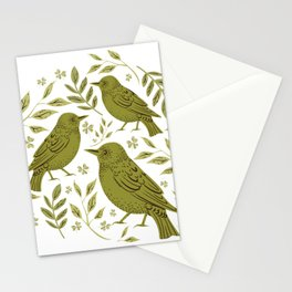 Little Wrens Hiding In The Hedgerow Stationery Cards