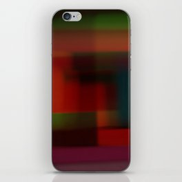 Blured squares iPhone Skin