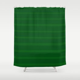 Emerald Green Soft Brush Stripes Shower Curtain