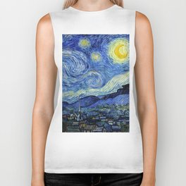 "Vincent van Gogh ""The Starry Night"" Biker Tank"