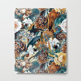 Flowers and Birds Metal Print