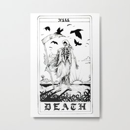 Death Tarot Card Metal Print