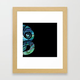 Tiki Black Framed Art Print