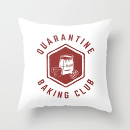 Quarantine Baking Club Throw Pillow