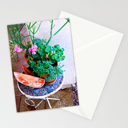 Watermelon Patio Summer Stationery Cards