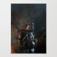 warhammer Canvas Prints featuring Sigmar Protects by Meimei