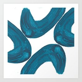 Nikee comma, Abstract, Blue Duck Art Print