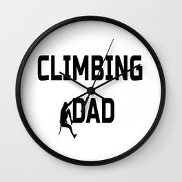 Climbing Dad Wall Clock