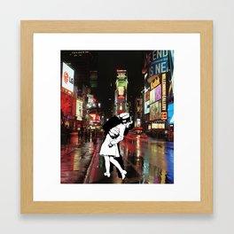 Time-less Square Framed Art Print