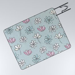 Cute Floral Ditsy Pattern Picnic Blanket