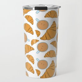 Coffee and croissant Travel Mug