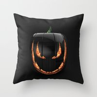 pumpkin Throw Pillows featuring pumpkin by Duitk