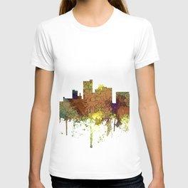 Lubbock, Texas Skyline - Safari Buff T-shirt
