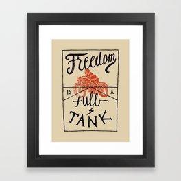 Freedom biker print Framed Art Print