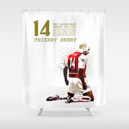 Thierry henry - The invincibles Shower Curtain