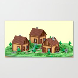 voxel hamlet Canvas Print