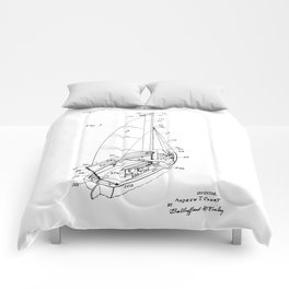 patent art Court Sailboat 1964 Comforters