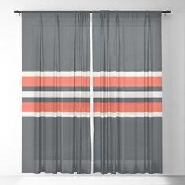 Classic Retro Stripes Azukiarai Sheer Curtain