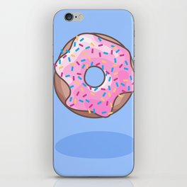 Pink Strawberry Donut iPhone Skin
