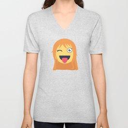 Nami Emoji Design Unisex V-Neck