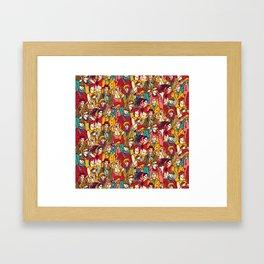 Bright people Framed Art Print