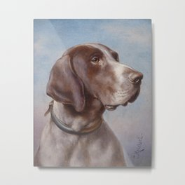 Dog Portrait by Carl Reichert Metal Print