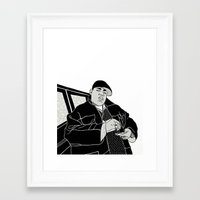 notorious big Framed Art Prints featuring Notorious by madebytraceyleigh