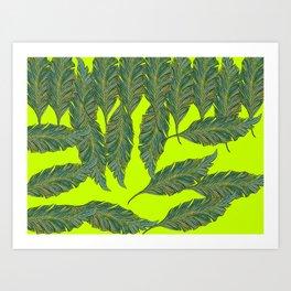 Australica Exotic Leaf Art Print