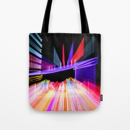 Moving Out zoom burst photograph Fremont Theater San Luis Tote Bag