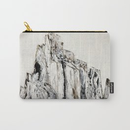 Abstract Landscape Painting Shiprock black white geometric Carry-All Pouch