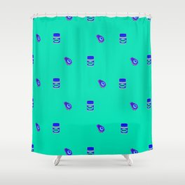 Vegemite & Avocado Repeat Print  Shower Curtain