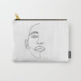 Face one line illustration - Hattie Carry-All Pouch