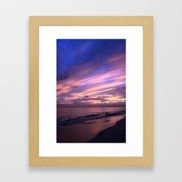 Whale Bay Sunset Framed Art Print