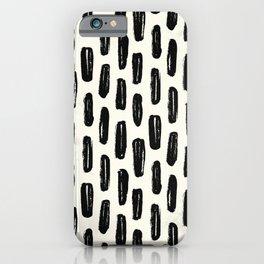 Ivory Vertical Dash iPhone Case